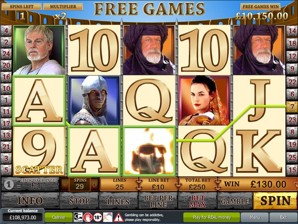 free online slot machine games gladiator